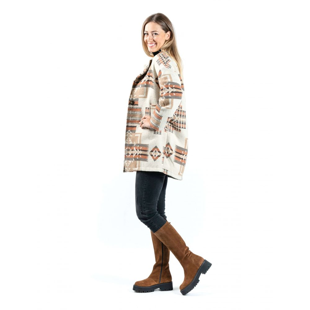 Jacheta de toamna cu model etno din bumbac