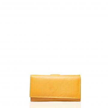 Portofel din piele naturala M21101P Galben