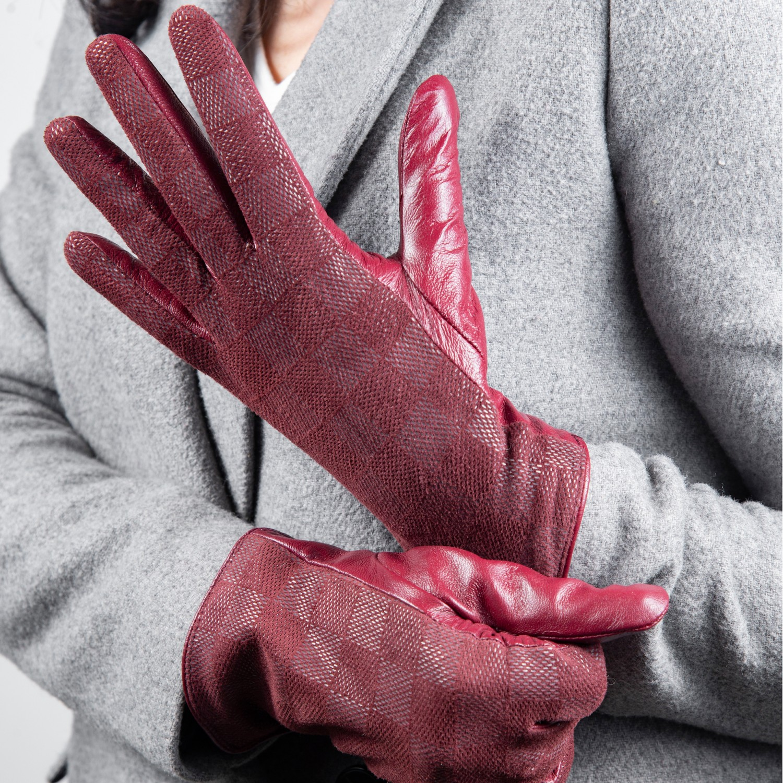 Manusi dama din piele naturala G03-02-BORDO